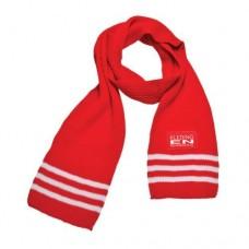 Retro sjaal acryl met strepen incl. opdruk