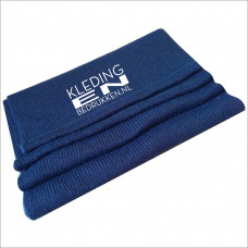 Gebreide sjaal borduren met logo
