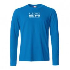 T-shirt Lange mouw basic heren incl. opdruk