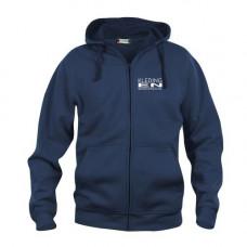 Sweater Vest Hoody met rits heren incl. opdruk