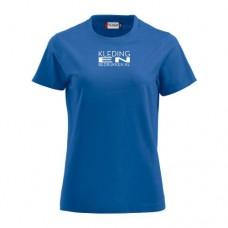 T-shirt rond gebreid Dames incl. opdruk