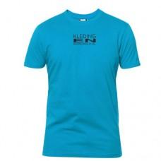T-shirt rond gebreid Heren incl. opdruk